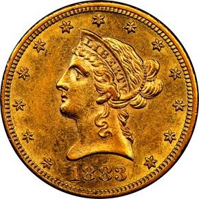 1883 CC $10 MS obverse