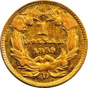 1859 D G$1 MS reverse