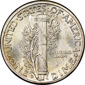 1944 D 10C MS reverse
