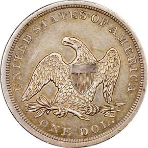 1843 $1 MS reverse