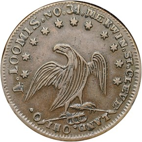 (1840's) CLEVELAND HT-380 OH MS obverse
