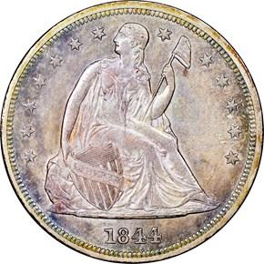 1844 $1 MS obverse