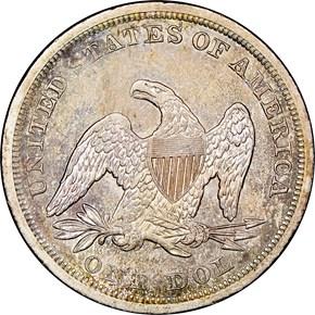 1844 $1 MS reverse