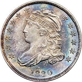 1830 10C MS obverse
