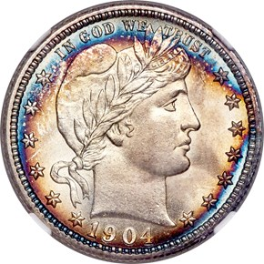 1904 25C MS obverse