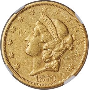 1870 CC $20 MS obverse