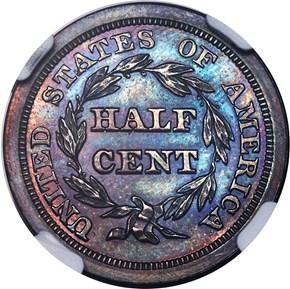1844 RESTRIKE 1/2C PF reverse