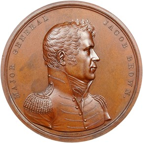 UNDATED J-MI-11 AE MAJOR GENERAL JACOB BROWN 65mm obverse