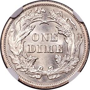 1863 10C MS reverse
