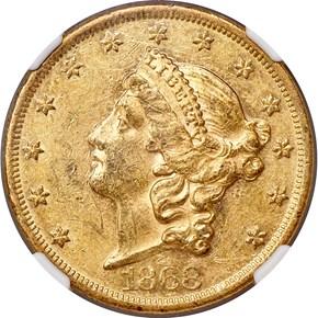 1868 $20 MS obverse