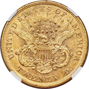 1868 $20 MS reverse