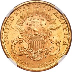 1889 $20 MS reverse