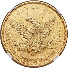 1842 O $10 MS reverse
