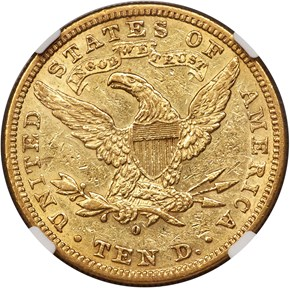 1881 O $10 MS reverse