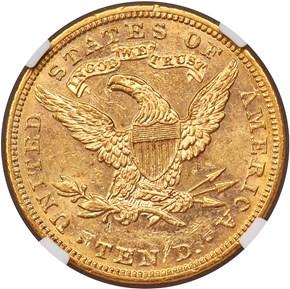 1889 $10 MS reverse