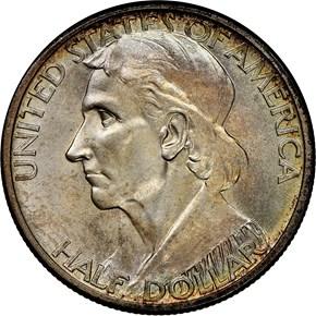 1935/1934 D BOONE 50C MS obverse