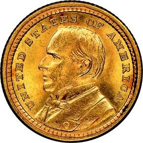 1903 MCKINLEY LOUISIANA PURCHASE G$1 MS obverse