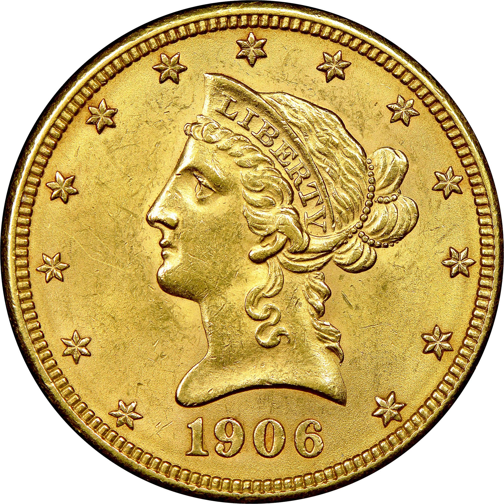 1906 D $10 MS Liberty Head $10 | NGC