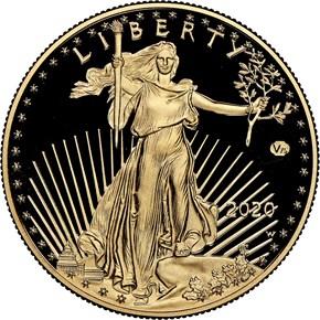 2020 W Eagle 'V75' G$50 PF obverse