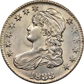 1833 50C MS obverse