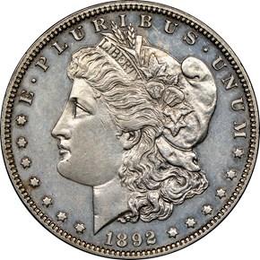 1892 $1 PF obverse