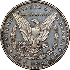1892 $1 PF reverse