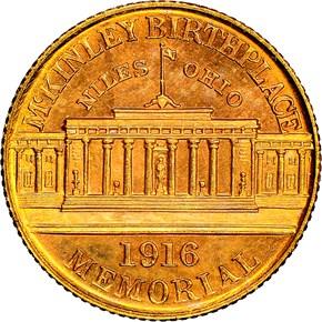 1916 MCKINLEY G$1 MS reverse