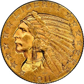 1911 $5 MS obverse