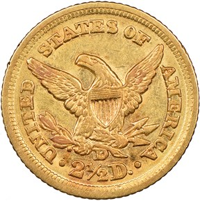 1851 D $2.5 MS reverse