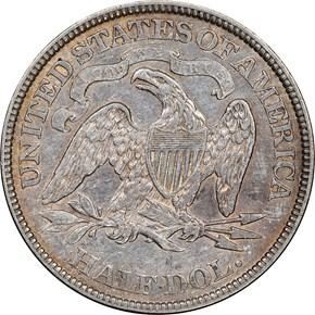 1874 ARROWS 50C MS reverse