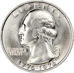 1776-1976 25C MS obverse