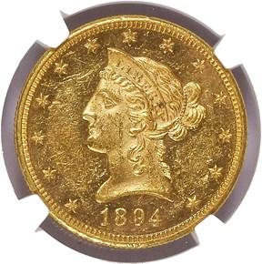 1894 O $10 SP obverse