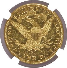 1894 O $10 SP reverse