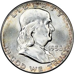 1958 50C MS obverse