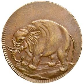 c.1869 BOLEN JAB-33 CAROLINA ELEPHANT COPY CU MS obverse