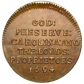 c.1869 BOLEN JAB-33 CAROLINA ELEPHANT COPY CU MS reverse