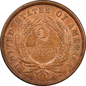 1864 LARGE MOTTO 2C MS reverse