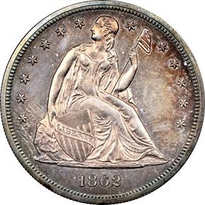 1862 $1 PF obverse