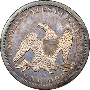 1862 $1 PF reverse