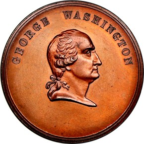 UNDATED J-PR-27 AE GEORGE WASHINGTON 28mm MS obverse