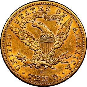 1894 S $10 MS reverse