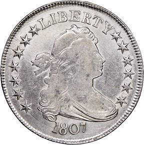 1807 DRAPED 50C MS obverse