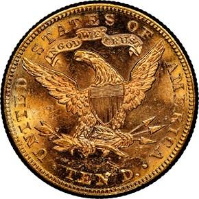 1883 $10 MS reverse