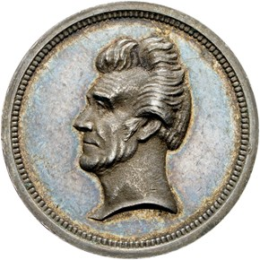 1833-DATED J-PR-33 AR ANDREW JACKSON 18mm MS obverse