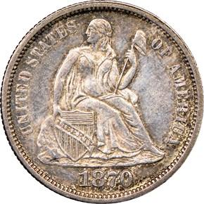 1870 10C MS obverse