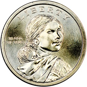 2019 P Sacagawea Mary Golda Ross $1 MS obverse