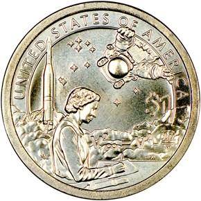 2019 P Sacagawea Mary Golda Ross $1 MS reverse