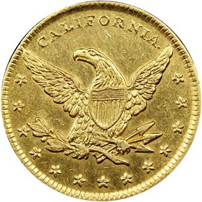 (1849) MINERS BANK $10 MS obverse
