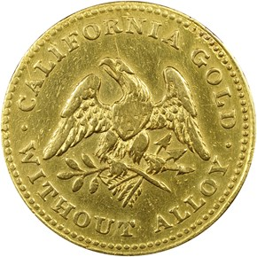 1849 REEDED EDGE NORRIS, GREGG & NORRIS $5 MS reverse