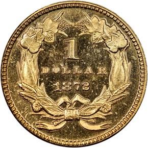 1872 G$1 MS reverse
